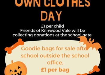 Wear your own clothes day - Friday 22nd October!